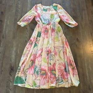 Chicwish Spring Scenery Floral Maxi Dress